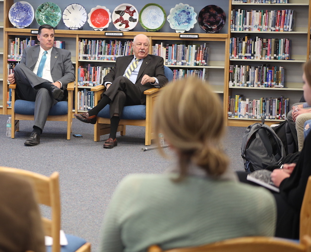 LaValle, Palumbo meet with North Fork students