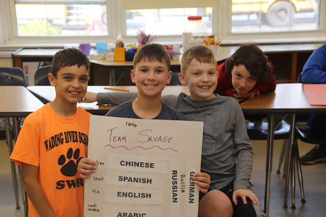 Wading River Elementary School's new World Language club