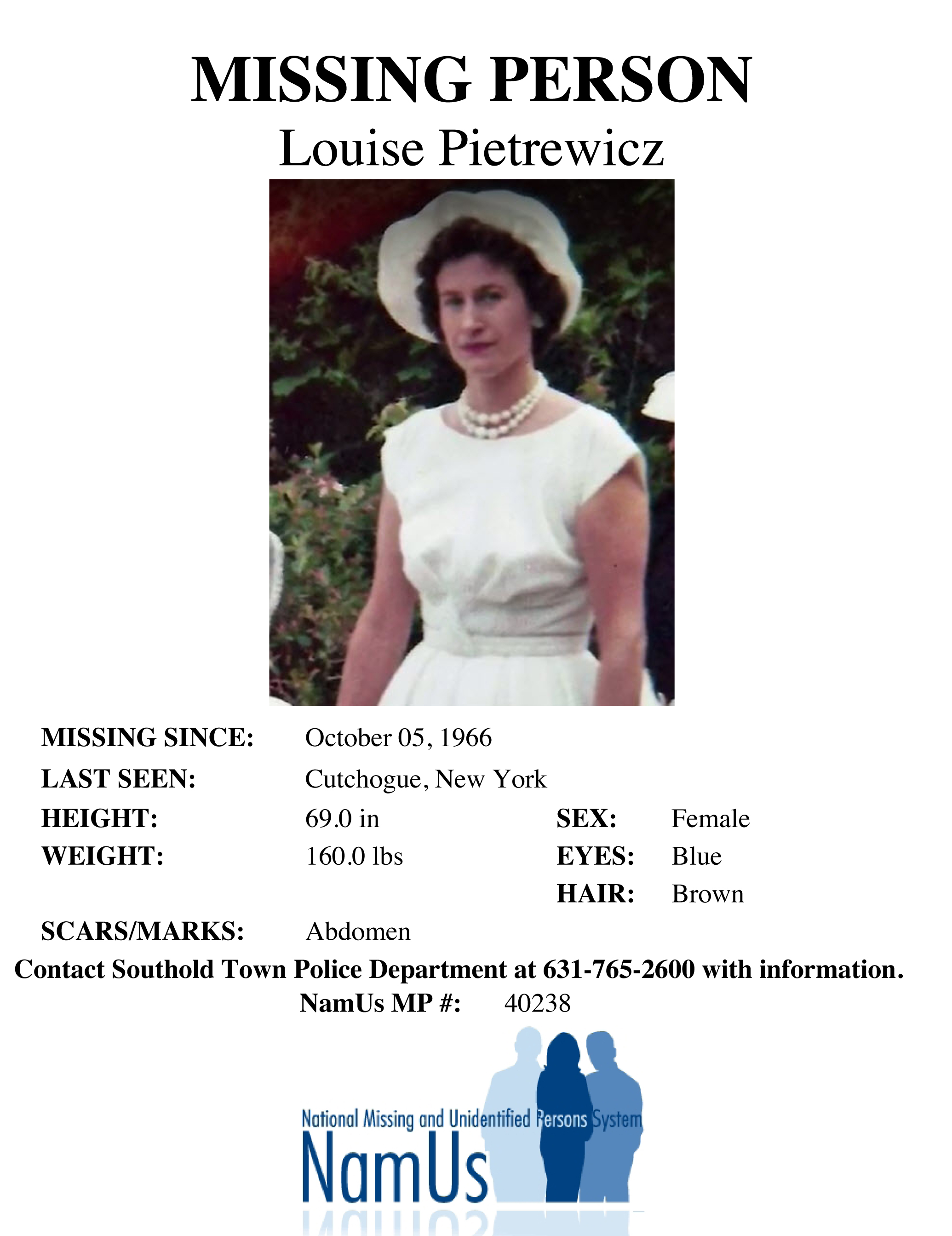 51 years later, Cutchogue woman added to missing persons database ...