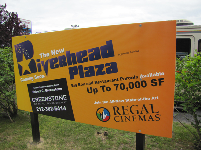 Riverhead Plaza, which is hoping to bring Regal Cinemas to the former Walmart site, took a step forward Thursday.