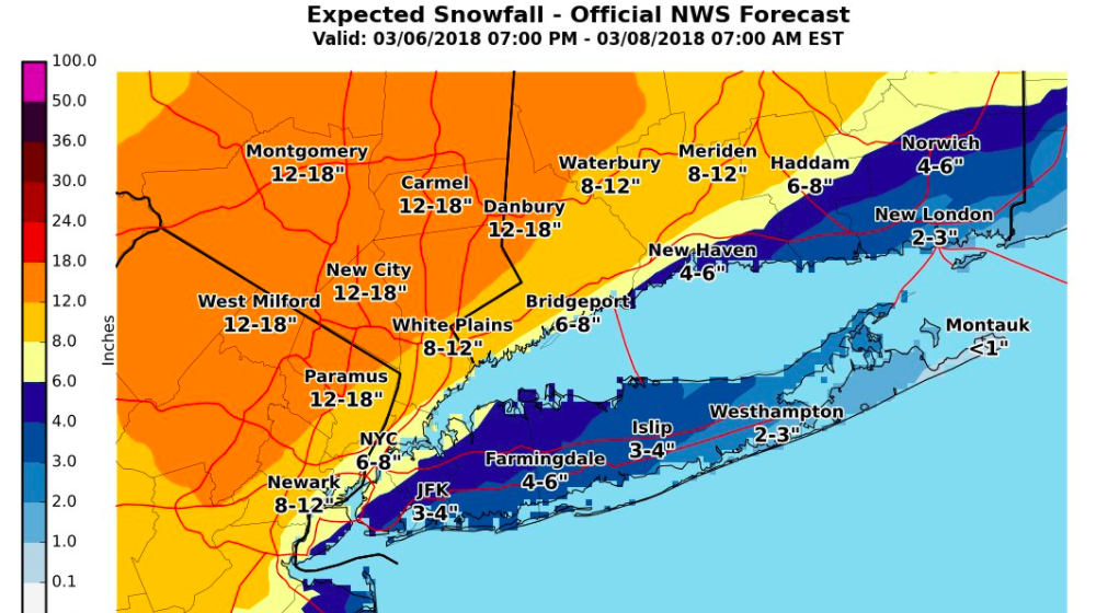 Nor'easter brings rare thundersnow to Northeast