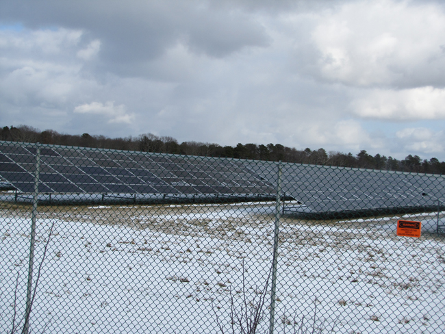 TIM GANNON PHOTO<br /> sPower, which owns this solar farm on Edwards Avenue, is seeking to buy 1,640 acres at EPCAL