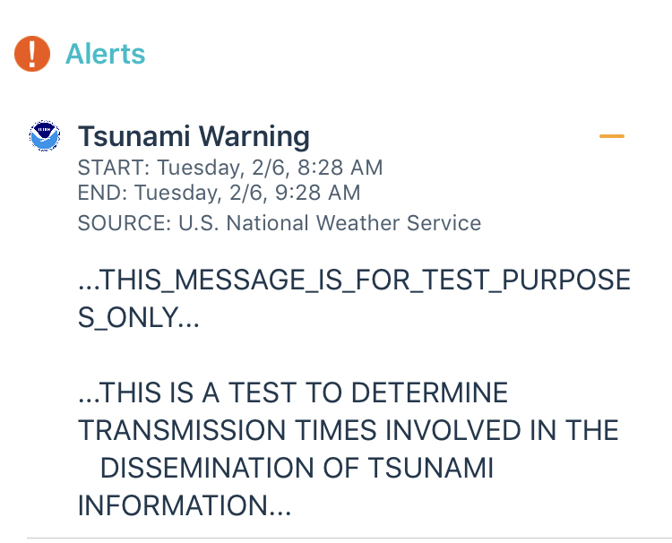 If you just got a tsunami warning for New Orleans, don't worry