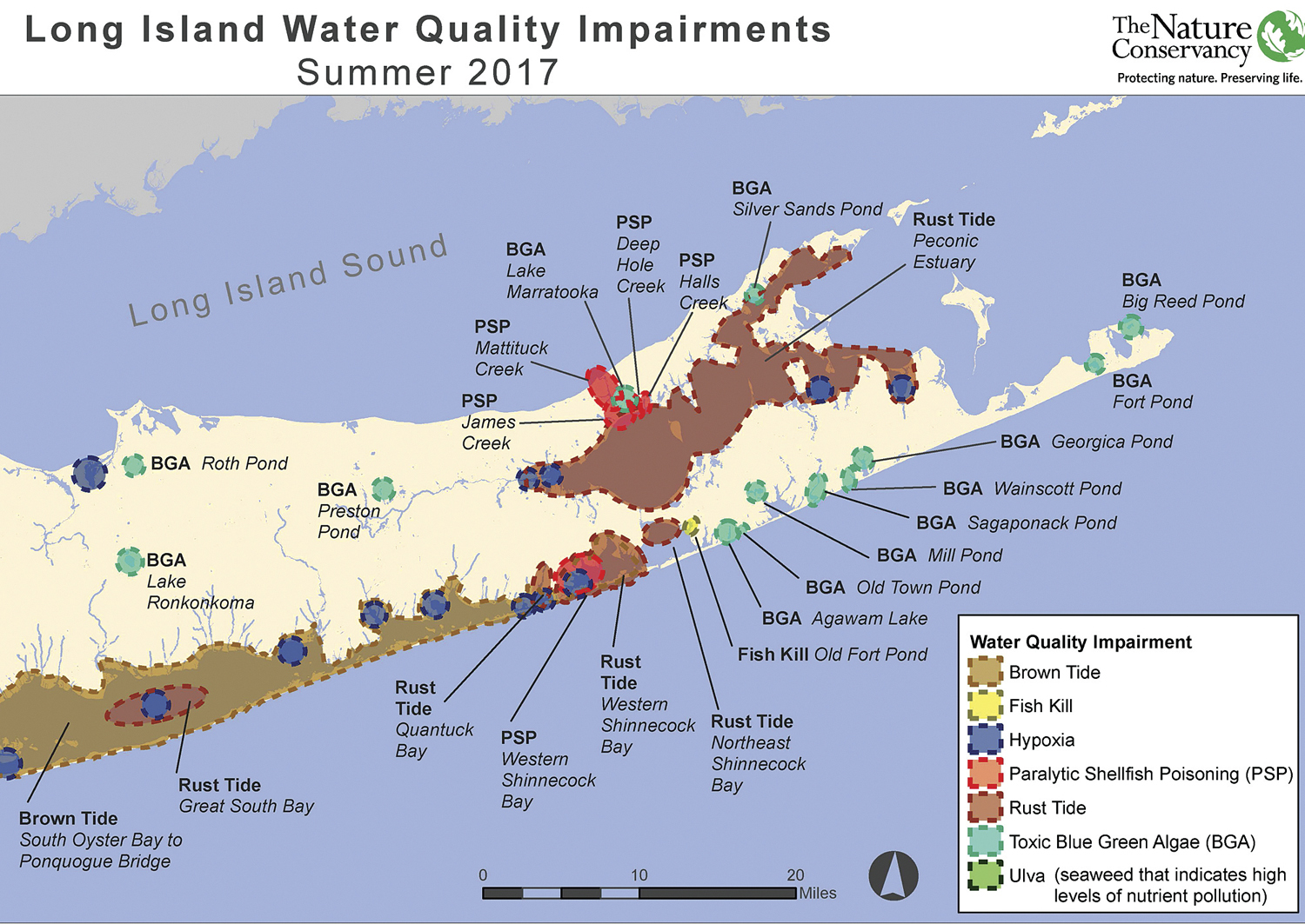 A Map Released Last Month In Conjuction With The Nature Conservancy And Stony Brook University S School Of Atmospheric And Marine Sciences Shows How Harmful