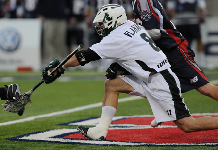 DANA KAPLAN PHOTO | Peter Vlahakis, a 2000 SWR grad, became the all-time leader in face-off wins in MLL history.