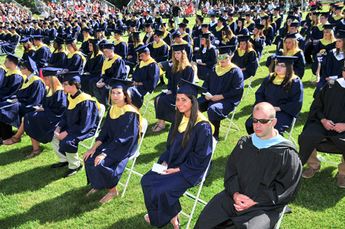 Graduates of Shoreham-Wading River's Class of 2014 at Saturday's ceremony. (Credit: Bill Landon)