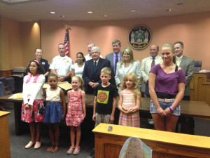 The winners of this year's National Night Out poster contest.