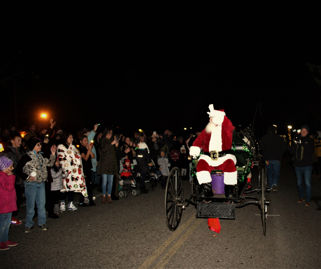 Santa is played by Tom Fox of Mattituck – he has been volunteering as Santa for over 30 years with various organizations including Riverhead BID and Riverhead Recreation. (Credit: Elizabeth Wagner)