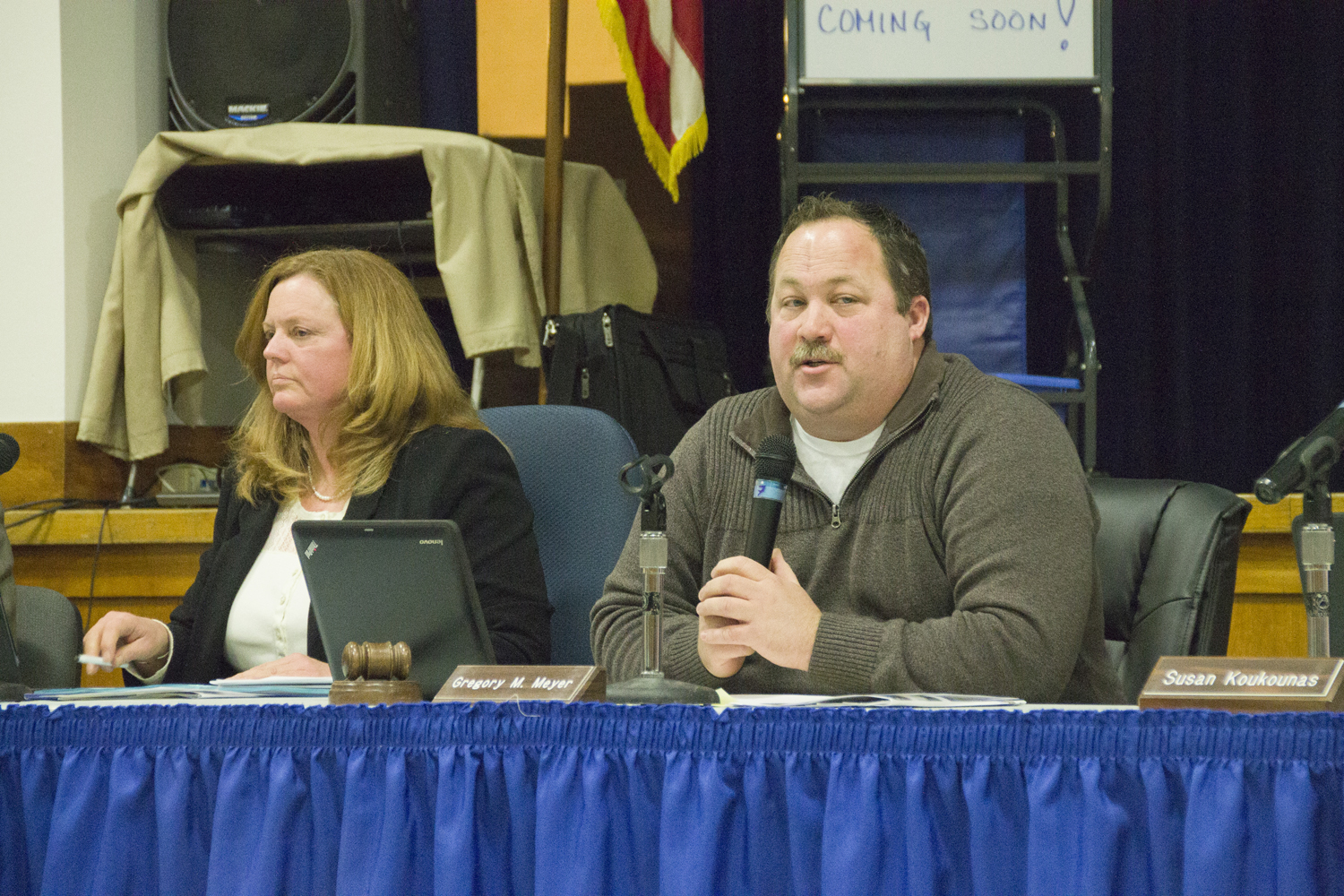 School board president Greg Meyer said Tuesday night that the district will have to review its selective classification policy before moving forward. (Credit: Paul Squire)