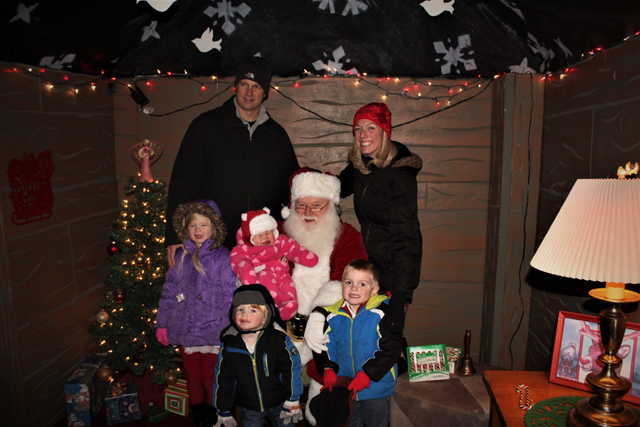 The Boese family of Riverhead poses for a group shot with Santa. (Credit: Elizabeth Wagner)