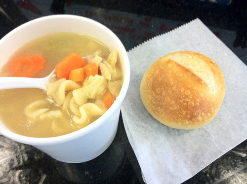 Blue Duck Bakery's chicken soup.
