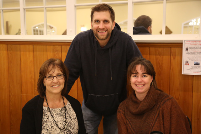 Shoreham-Wading River baseball coach Kevin Willi with his wife, Terra, and mom, Lisa.