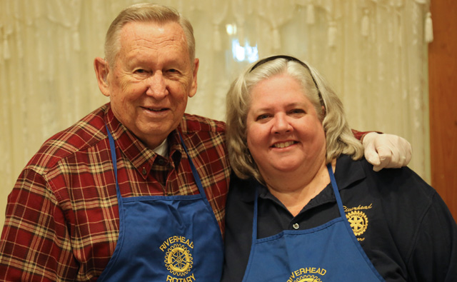Rotarians Ed Merz and Mary Ellen Ellwood.