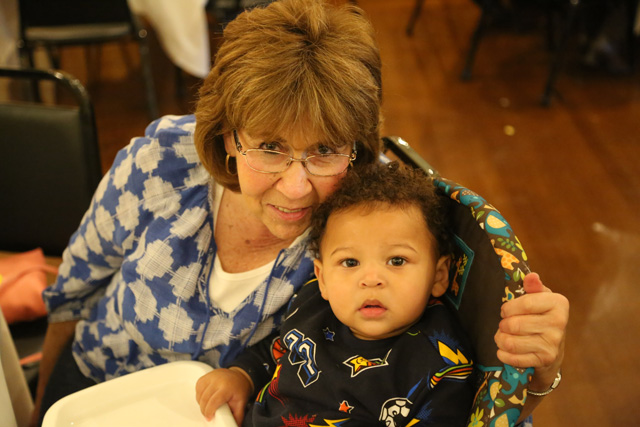 Carolyn McPherson with great grandson Ethan.