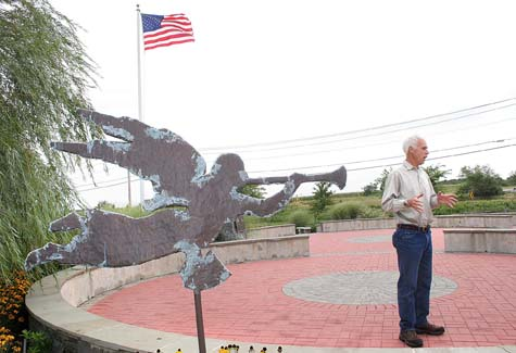 Hall Lindstrom at the World Trade Center Memorial in Calverton