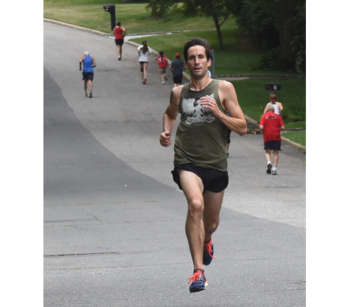 A two-time Olympian in the 3,000-meter steeplechase, Anthony Famiglietti was the winner of Friday's SWR July 4 5K. (Credit: Robert O'Rourk)