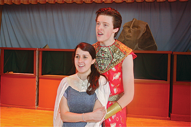 Danielle Allen of Riverhead as Aida, the Ethiopian King's daughter and Patrick O'Brien of Riverhead as Radames son of the King of Egypt and general of the Egyptian army. (Credit: Barbaraellen Koch)