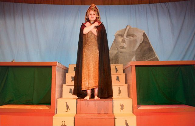 Laura Field of East Hampton as Amneris, the Pharoah's daughter, who's in love with Radames, captain of the Egyptian guard. (Credit: Barbaraellen Koch)
