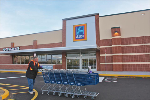 BARBARAELLEN KOCH PHOTO | Aldi will open on Route 58 in Riverhead Jan. 10, the company announced in a press release.