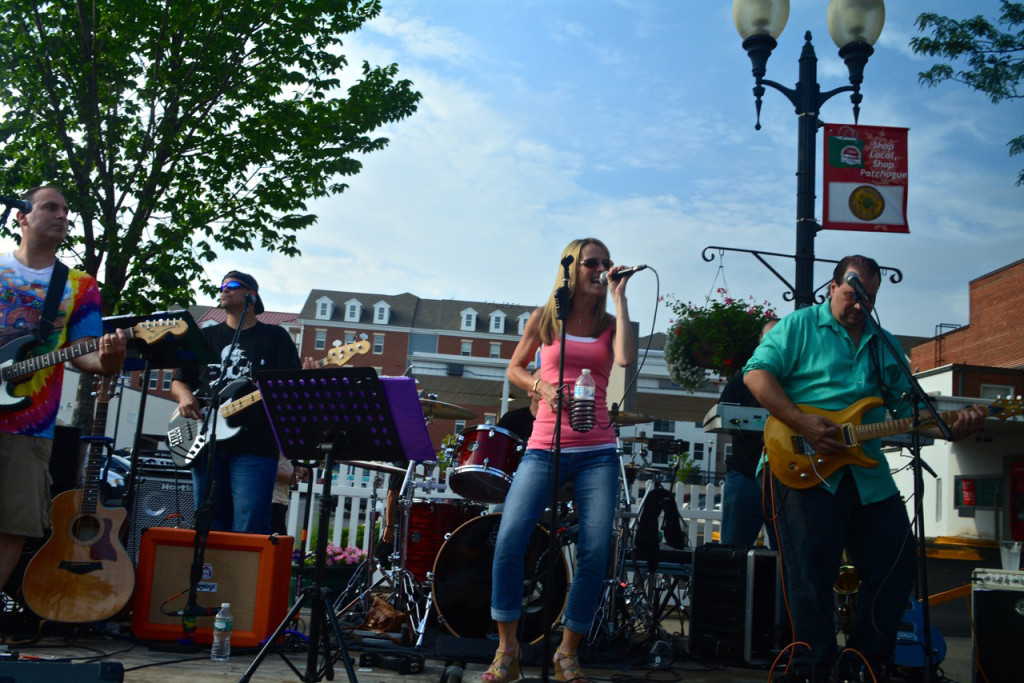 A band performs during an Alive After Five event in Patchogue. (Credit: Michael White, greaterpatchogue.com)