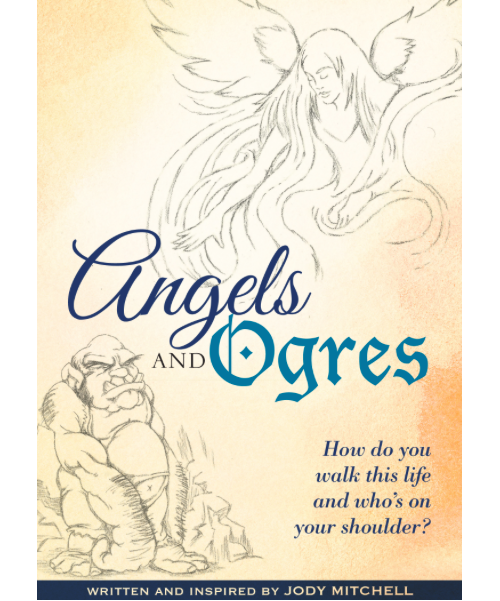 "Wading River resident Jody Mitchell recently published ""Angels & Ogres,"" a book of poems. (Screenshot taken by Jennifer Gustavson)"