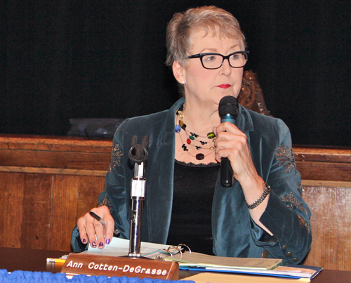 Riverhead School Board president Ann Cotten-DeGrasse. (Credit: Jennifer Gustavson, file)