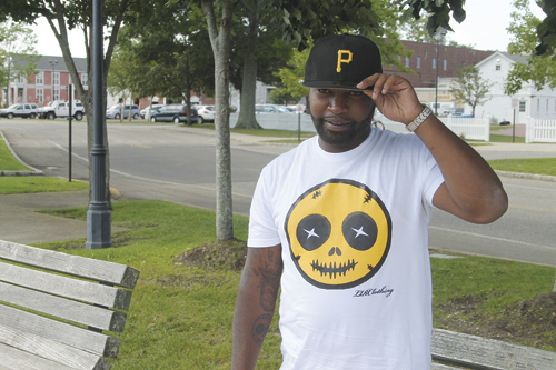 Anthony Harris, the founder of LIRClothing, in Riverhead last summer. (Credit: Joe Werkmeister, file)