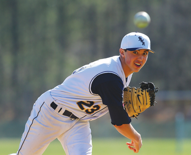 Shoreham-Wading River pitcher Brian Morrell returns for his sophomore season this year for the Wildcats. (Credit: Daniel De Mato, file)