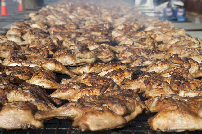 Chicken will be grilled up Aug. 9 at (Credit: Katharine Schroeder, file)