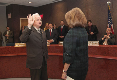 GRANT PARPAN FILE PHOTO | Bill Lindsay at his swearing-in ceremony in 2011.