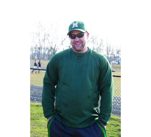 Bishop McGann-Mercy baseball coach Ed Meier 030816