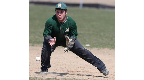 DANIEL DE MATO PHOTO | Marco Pascale, who had been a corner infielder, has moved to shortstop to fill a need for Bishop McGann-Mercy.