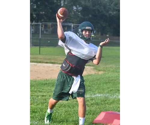 Bishop McGann-Mercy quarterback Ryan Razzano 081916