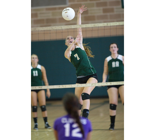 GARRET MEADE PHOTO | Fiona Nunez supplied Bishop McGann-Mercy with 15 service aces, 8 kills and a dink against Greenport/Southold.
