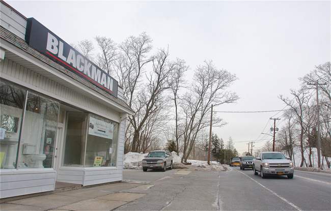 Blackman Plumbing on West Main Street is looking to expand. (Credit: Barbaraellen Koch)