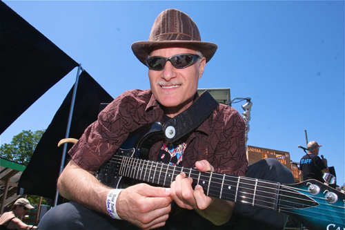 BARBARAELLEN KOCH FILE PHOTO | Robert Ross of NYC prepares to take the stage Saturday at the 2012 Riverhead Blues & Music Festival in June.