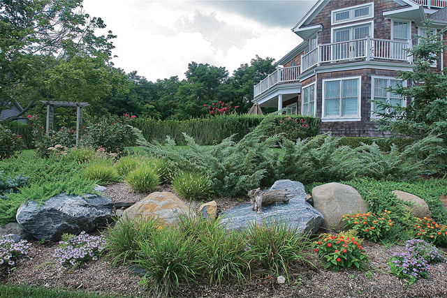Boulders at South Jamesport home.
