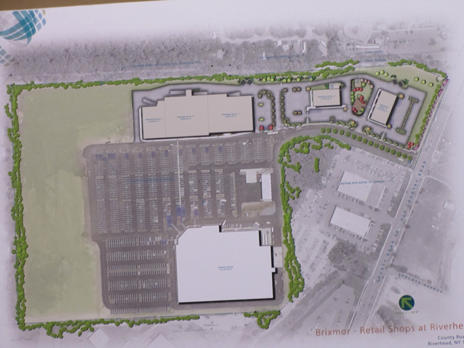 Map of proposed development. With Costco at the bottom and the northern portion of the site on the left.