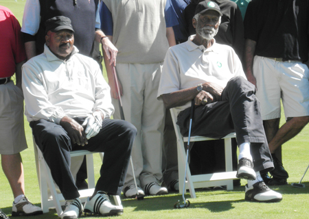 Video: Golf tournament draws greats like Dr. J, Mr. October