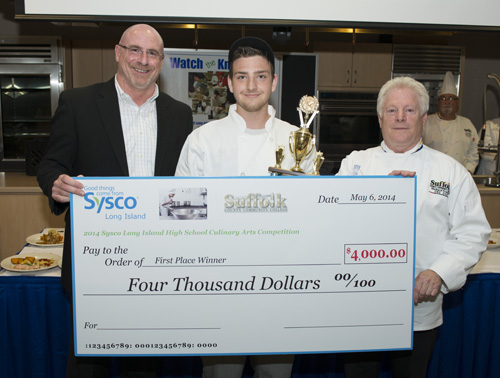 Aspiring chef Danny Insogna, 18, of Southold took first place in this year's Long Island High School Culinary Competition, sponsored by Sysco. (Credit: Courtesy)