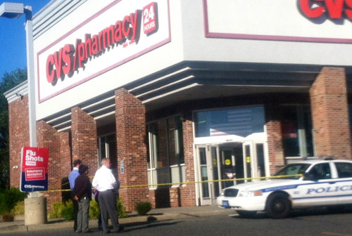 GRANT PARPAN PHOTO | Riverhead Police are investigating a robbery at CVS on Route 58.