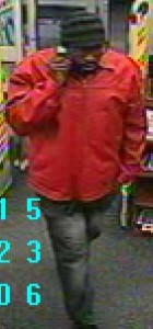 Security cameras captured the man police said used fake money to buy a gift card in Riverhead. (Credit: Riverhead police)