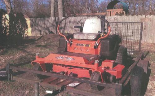 SCPD COURTESY PHOTO | Police are seeking information on who stole this lawnmower