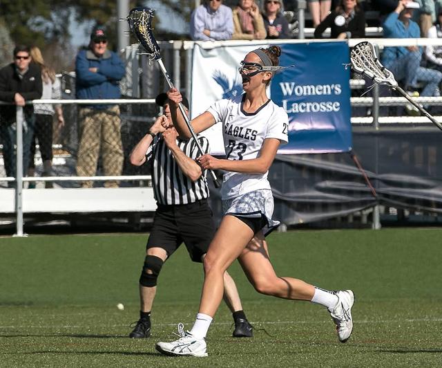 Shoreham-Wading River graduate Corinne Wiederkehr led the University of Mary Washington lacrosse team in points this season. (Credit: Mary Washington Athletics)