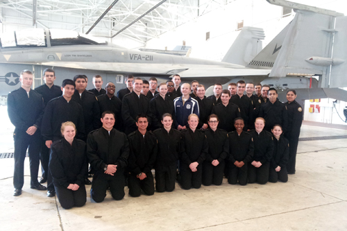 NJROTC cadets on a recent trip to Parris Island. (Credit: Courtesy RCSD)
