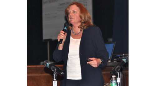 Riverhead School District Superintendent Nancy Carney. (Credit: Jennifer Gustavson, file)