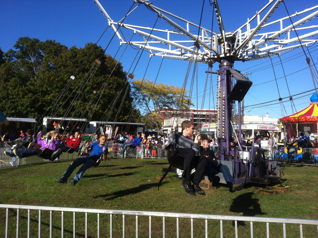 Carnival rides at the 2014 Riverhead Country Fair at the Riverside traffic circle. Tim Gannon photo.