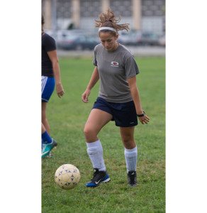 ROBERT O'ROURK PHOTO  |  Riverhead senior Carolyn Carrera was a goalkeeper on the soccer team this fall.