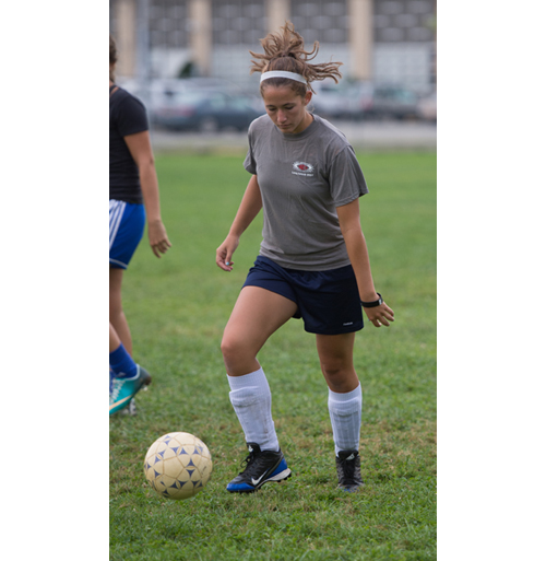 ROBERT O'ROURK PHOTO  |  Riverhead senior Carolyn Carrera will anchor the Blue Waves' defense this season as goalkeeper.