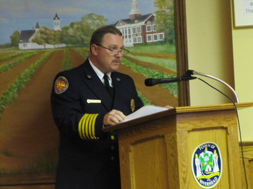 Chip Bancroft, vice president of the Suffolk County Fire Chiefs Council